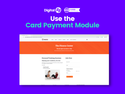 Collect card payment module