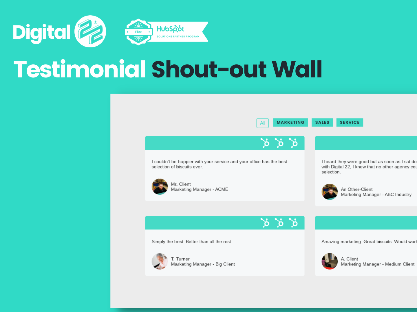 Testimonial Shout-out Wall D22 Product Thumbnail