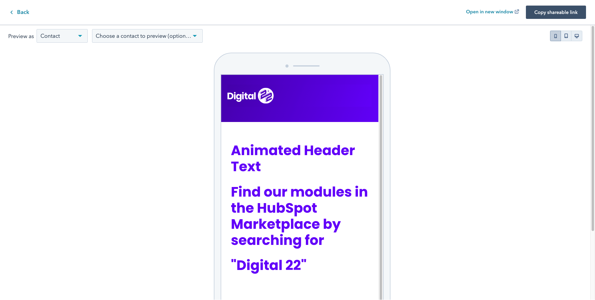 Animated Header Mobile