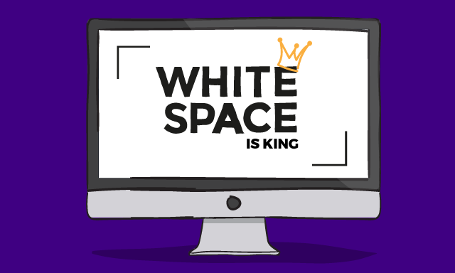 White Space is king blog header